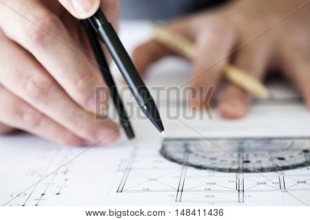 Construction Concept. Engineering Tools.