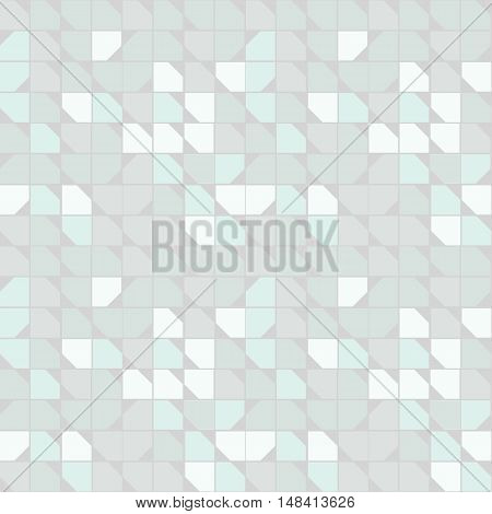 Seamless geometric pattern. Geometric simple print. Vector repeating texture. Background with squares with cut off corners.