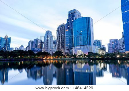View Of Bangkok City Building