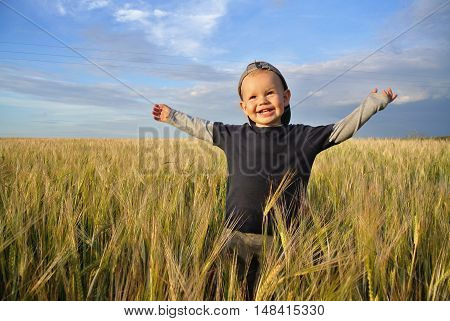 boy, three years worth of a wheat field happily tossing up your hands