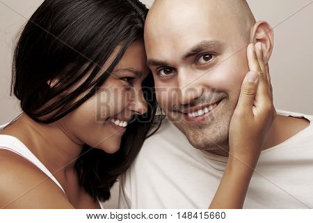 Young couple - young man and woman together