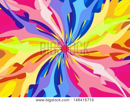 abstract artistic detailed rainbow background vector illustration