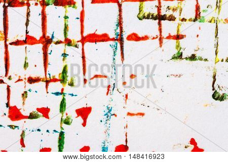 Abstract hand painted red acrylic art background