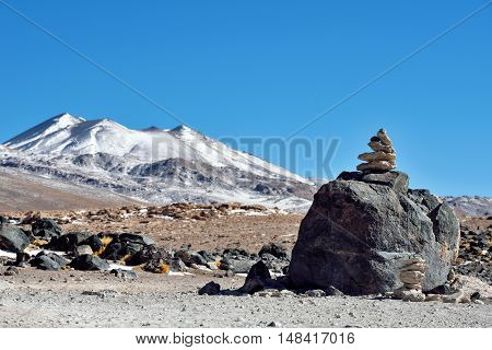 The Sairecabur volcanic group on the border between Bolivia and Chile South America