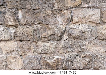 Background of stone wall surrounding, history texture