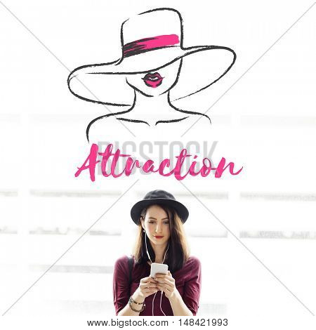 Appeal Attraction Beauty Fashion Vogue Graphic Concept