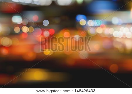 Defocused City Night Lights - Colorful Night View.
