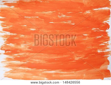 Abstract hand painted light bright pale red orange white watercolor pattern