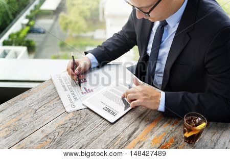Businessman Global Business Marketing Trends Concept