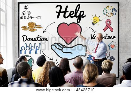 Help Welfare Hope Donations Volunteer Concept