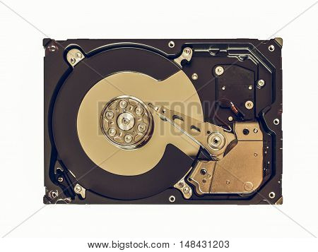 Vintage Looking Hard Disk