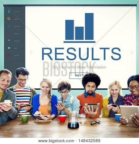 Results Summary Progress Chart Concept