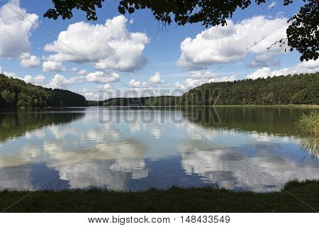 Lake Roofensee in the eastern part of Germany, Europe