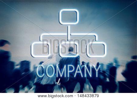 Company Organization Chart Business Concept