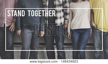 Stand Together Strong Teamwork Cooperation Concept