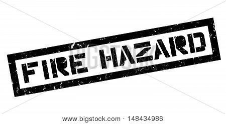 Fire Hazard Rubber Stamp