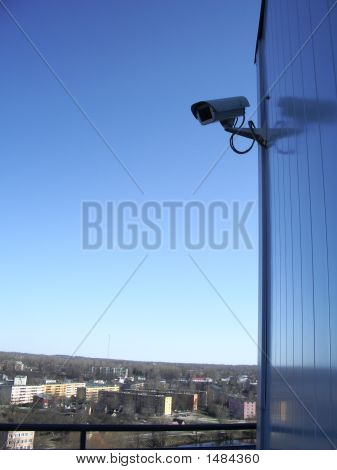 Security Camera And City