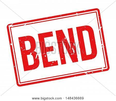 Bend Rubber Stamp