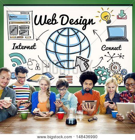 Web Design Programming Homepage Website Concept