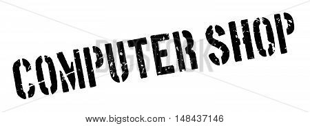 Computer Shop Rubber Stamp