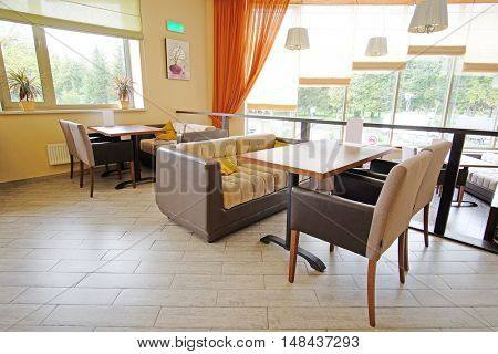 Interior of an empty  restaurant