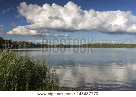 Lake Wurlsee in the eastern part of Germany, Europe
