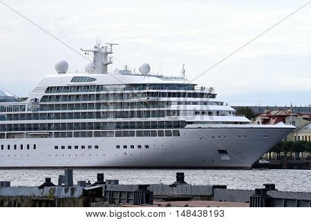 Large cruise ship on the Neva, Saint Petersburg, Russia