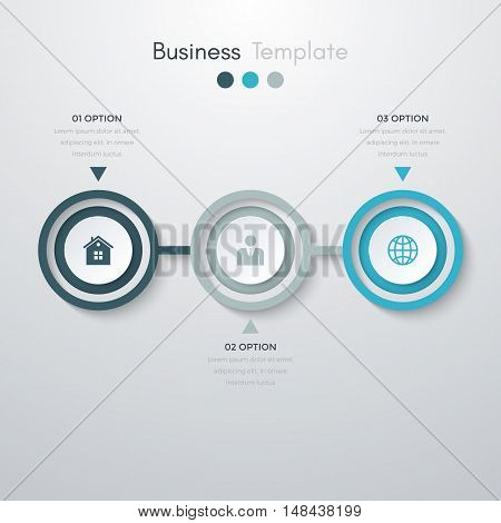 Vector illustration infographics three options. Stock vector