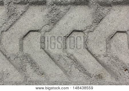The Bulldozer tracks in the dirt, outdoor