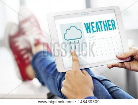 Weather Forecast Rainy Cloud Concept