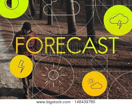 Climate Forecast Overcast Season Temperature Concept