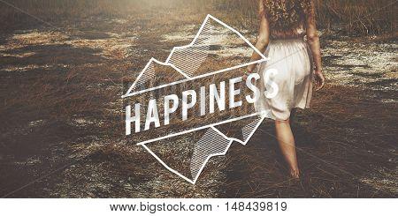Happiness Life Enjoy Pleasure Concept
