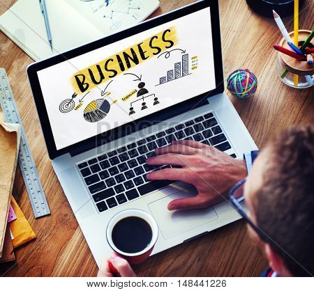Business Growth Success Corporate Teamwork Concept