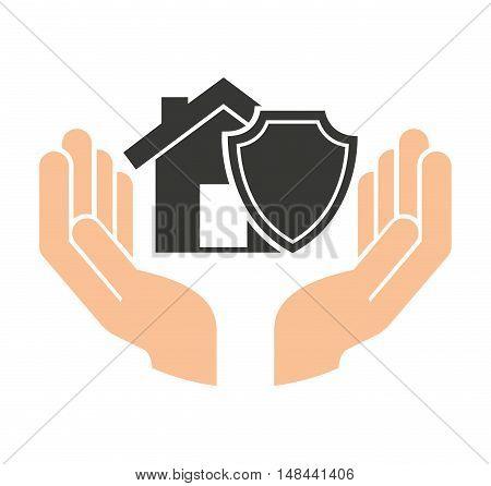 home insurance property concept icon vector illustration design