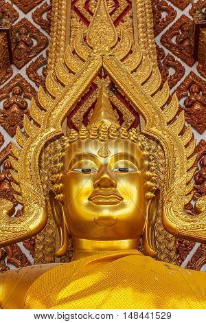 Buddha gold statue Beautiful in bangkok (thailand)