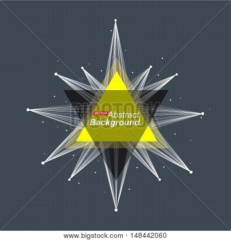 Abstract Model. Minimalistic Fashion Backdrop Design. Yellow Space Star Shine Icon. Explosion Light