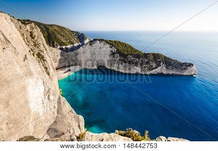 Navagio Beach With Shipwreck