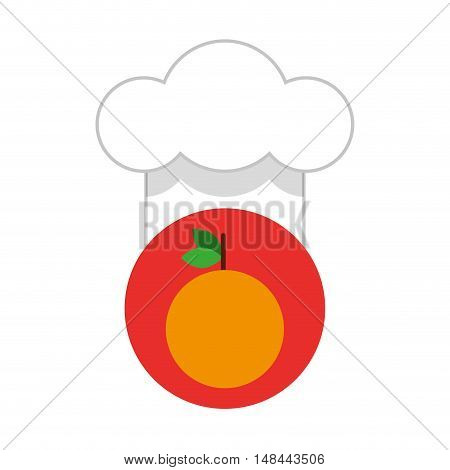 healthy food with hat chef vector illustration design