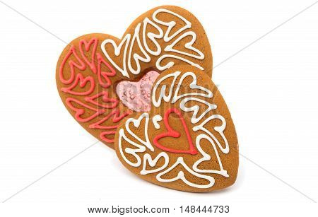 Cookies hearts symbol valentine isolated white background