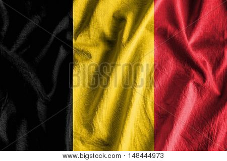 Waving flag of Belgium - background flag
