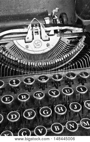 Antique Typewriter - An Antique Typewriter Showing Traditional QWERTY Keys VIII