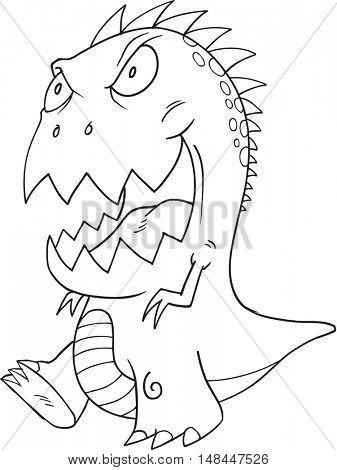 Doodle Monster Vector Illustration Art