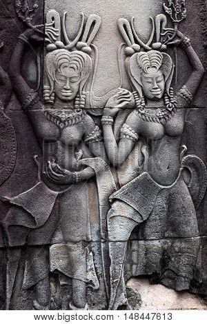 Bas-relief At Angkor Wat, Cambodia