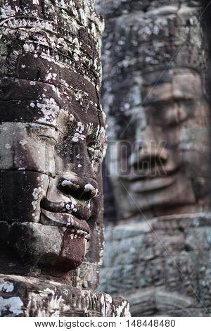 Prasat Bayon Temple In Angkor, Cambodia