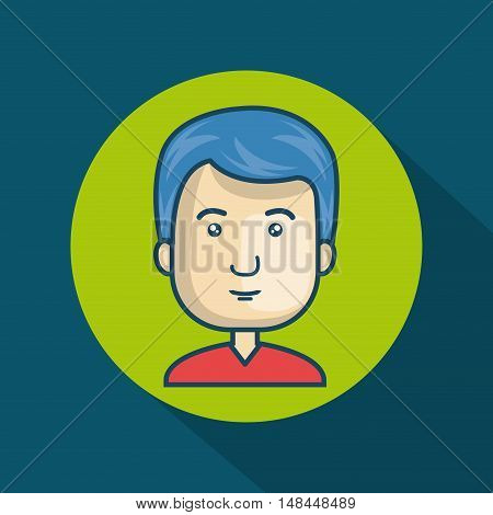 character guy avatar internet graphic vector illustration eps 10