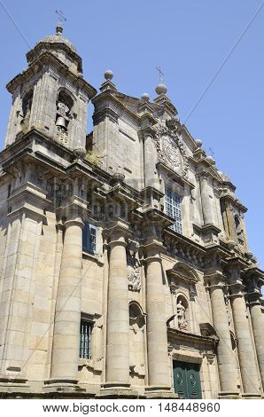 Bartholomew Church a baroque Jesuit church in the city of Pontevedra Galicia Spain.