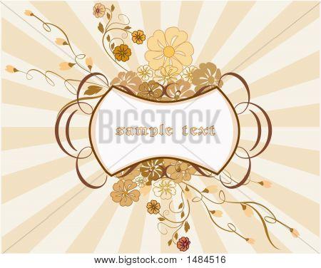 Marco decorativo. Vector fondo Floral.