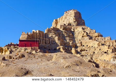 Tsaparang, The Ruins Of The Ancient Capital Of Guge Kingdom In Tibet