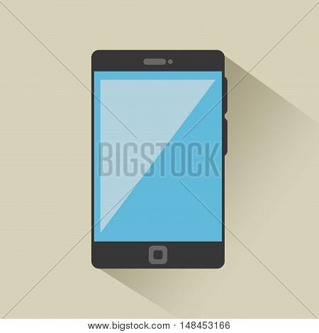 smartphone black news digital graphic vector illustration eps 10