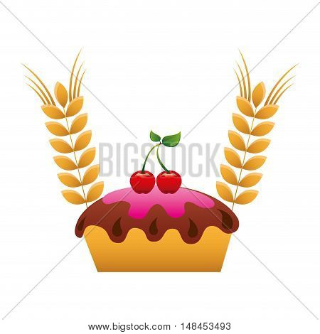 bakery product with spike vector illustration design